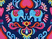 Jersey Elefanten Herzen Hamburger Liebe, dunkelblau