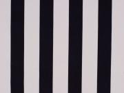 Baumwolle Streifen, schwarz weiss