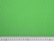 Baumwollstoff kleine Punkte, weiss grün