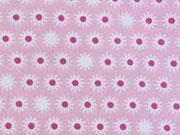 BW Sternblümchen - weiss/pink auf rosa