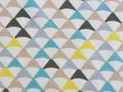 Jersey Dreiecke auf cremeweiß