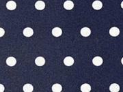 beschichtete Baumwolle Punkte 6mm, weiß auf dunkelblau