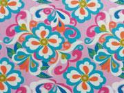 Thea BW Blumenmuster, rosa/blau