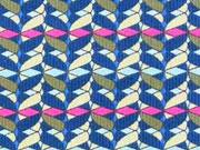 RESTSTÜCK 75 cm Feincord Lila Lotta kleingemustert, pink khaki blau