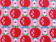 RESTSTÜCK 71 cm Laminierte Baumwolle Sweet Apple by Jolijou pink