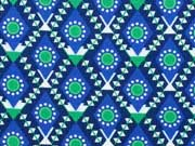 RESTSTÜCK 44 cm Jolijou Feincord Harvest Blossom, grün/blau