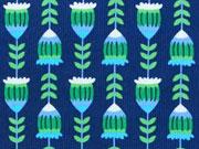 Jolijou Feincord Harvest Blossom, grün auf blau