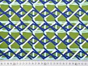 Jersey Gitternetz, blau grün weiß