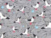Jersey Seagull Wave Lila -Lotta, Möwen hellgrau