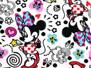 Jersey Disney Minnie Mouse, bunt/weiss