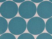 RESTSTÜCK 65 cm laminierte BW Fresh Dots 5 cm, mint/weiss