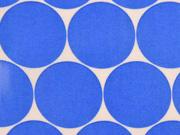 laminierte Baumwolle Punkte 5cm, himmelblau weiß