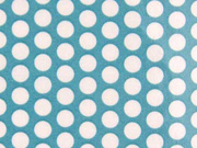 laminierte Baumwolle Punkte 9mm, weiß mint
