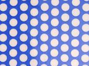 laminierte Baumwolle Punkte 9mm, weiß auf himmelblau
