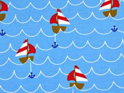 Jersey Vera Segelboote, hellblau