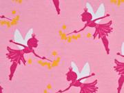 RESTSTÜCK 65 cm Jersey Elfen Sternchen, rosa