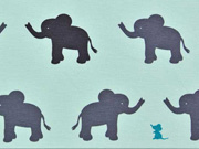 RESTSTÜCK 22 cm Jersey Vera Elefanten, mint