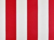 beschichtete BW Leona Streifen 5 cm, rot