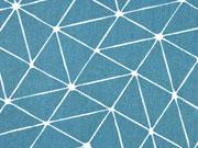 RESTSTÜCK 31 cm beschichtete BW Luna Gitternetz, petrol