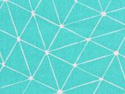RESTSTÜCK 37 cm beschichtete BW Luna Gitternetz, mint