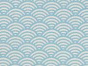 beschichtete BW Luna Wellen, hellblau
