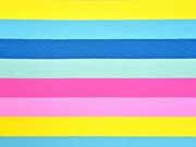 RESTSTÜCK 31 cm Jersey Lou Blockstreifen 3 cm, Pastellfarben