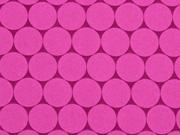Nano-Softshell Sheldon Punkte 2,5 cm beere/pink