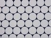 RESTSTÜCK 81 cm Nano-Softshell Sheldon Punkte 2,5 cm grau schwarz