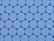 Nano-Softshell Sheldon Punkte 2,5 cm jeansblau