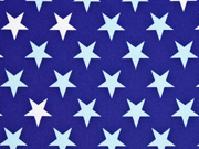 RESTSTÜCK 44 cm Softshell Stoff Sheldon Sterne 2,5 cm dunkelblau