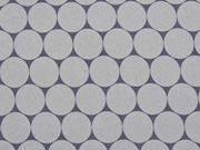 RESTSTÜCK 138 cm Nano-Softshell Sheldon Punkte 2,5 cm, grau