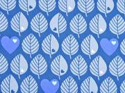 Softshell Stoff by Graziela Blätter, blau