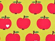 Canvas Stoff Äpfel by Graziela schmutz-und wasserabweisend, gelb