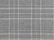 Jacquard Jersey Glencheck Classic, schwarz weiß
