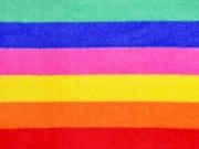 Wellnessfleece Streifen, Regenbogen Farben