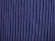 Rippenbündchen Hipster-Beanie Stoff, dunkelblau