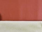 Lederimitat mit Wildlederimitat Rücken, Terracotta