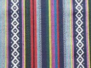 RESTSTÜCK 86 cm Mexiko Stoff Streifen Borten, blau lila