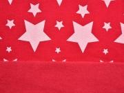 Sweat Sterne, weiß rot