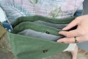 Dry Oilskin Light gewachste Baumwolle, Moosgrün