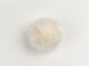 Kunstfellbommel Taschenanhänger 6 cm, cremeweiß