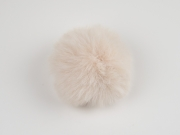 Kunstfellbommel Taschenanhänger 6 cm, nude