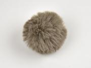 Kunstfellbommel Taschenanhänger 6 cm, taupe