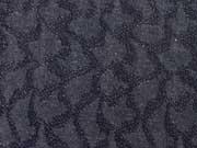 RESTSTÜCK 160 cm Strickstoff glitzerndes Muster, dunkelblau