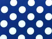 RESTSTÜCK 33 cm Softshell Stoff Punkte 2cm,  dunkelblau