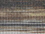 RESTSTÜCK 63 cm gerippter Strick gestreift, beige braun
