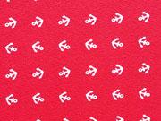 RESTSTÜCK 45 cm Jersey Mini Anker - weiß auf rot