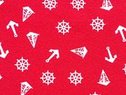 Jersey Anker & Boote - weiß auf rot