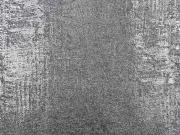 Strickstoff Foliendruck silber metallic, hellgrau