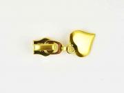 Schieber mit Herz für Reißverschluss mit 6,5 mm Spirale, GOLD